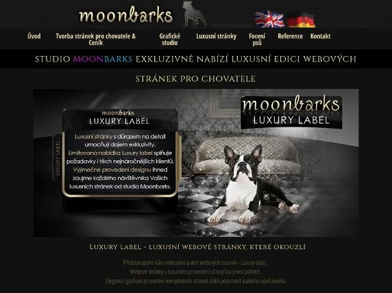 Screenshot von http://www.moonbarks.cz/de